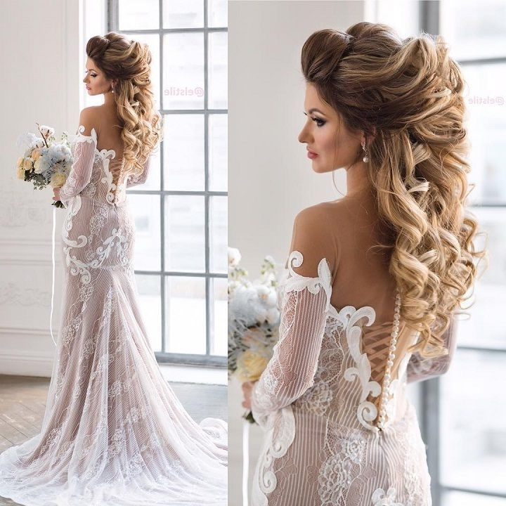 Beautiful Bridal Hairstyle Long Hair | Medium Length Hairs And Inside Wedding Hairstyles For Long Length Hair (View 6 of 15)