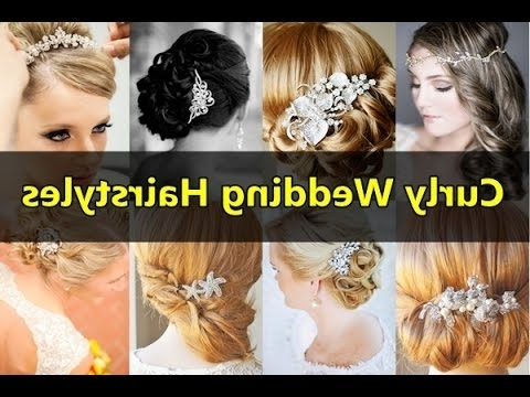 Beautiful Curly Wedding Hairstyles For Long, Medium, Short Curly Inside Wedding Hairstyles For Medium Length Hair With Fringe (View 14 of 15)