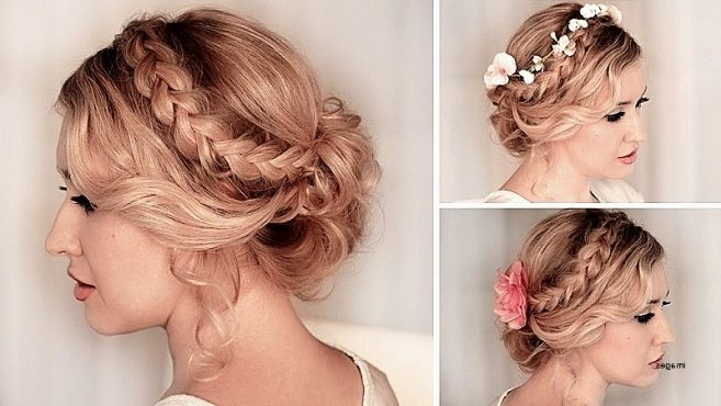 Beautiful Cute Updo Hairstyles For Short Curly Hair Curly Hairstyles In Cute Wedding Hairstyles For Short Curly Hair (View 10 of 15)
