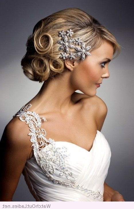 Beautiful Hair And One Shoulder Wedding Dress | Watchoutladies Within Wedding Hairstyles For One Shoulder Dresses (View 1 of 15)