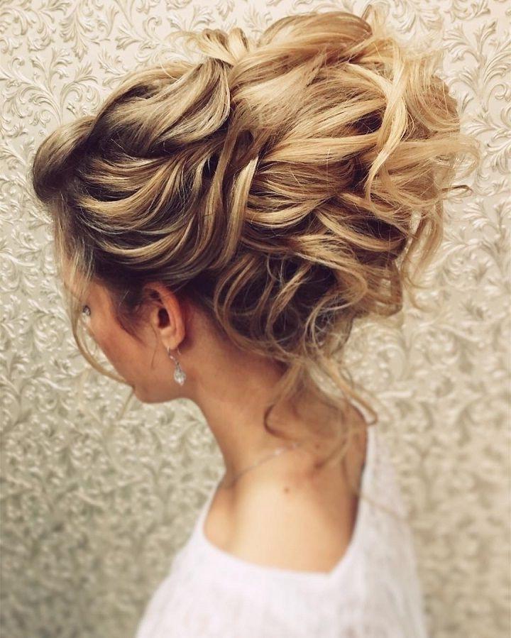 Beautiful Messy Bridal Hair Updos   Messy Bridal Hair, Messy Wedding Within Messy Wedding Hairstyles For Long Hair (View 6 of 15)