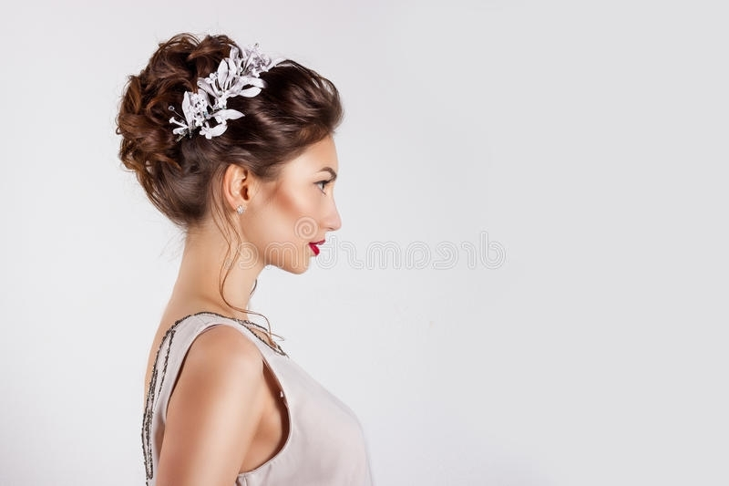 Beautiful Young Girl In The Image Of The Bride, Beautiful Wedding Within Wedding Hairstyles For Young Brides (View 14 of 15)
