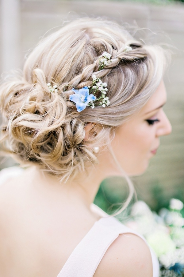Beauty Photos – Braided Bridesmaid Hair, Natural Flowers – Inside Inside Garden Wedding Hairstyles For Bridesmaids (View 3 of 15)