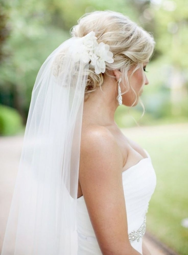 Best 25 Veil Hairstyles Ideas On Pinterest Veil Hair Wedding Wedding Intended For Wedding Updos For Long Hair With Veil (View 7 of 15)
