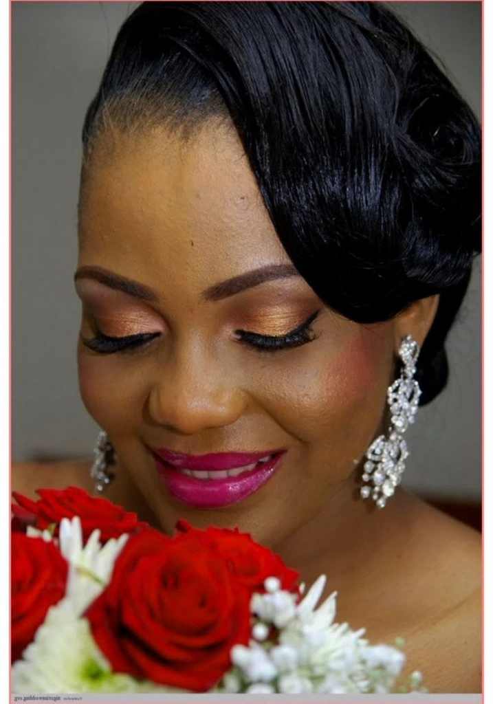 Best African American Wedding Hairstyles For Medium Length Hair Within African American Wedding Hairstyles For Medium Length Hair (View 4 of 15)