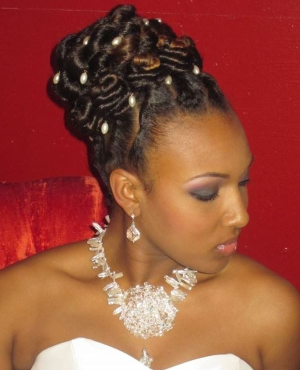 Best Black Braided Updo Hairstyles – African American Braided Updo For African Wedding Braids Hairstyles (View 7 of 15)