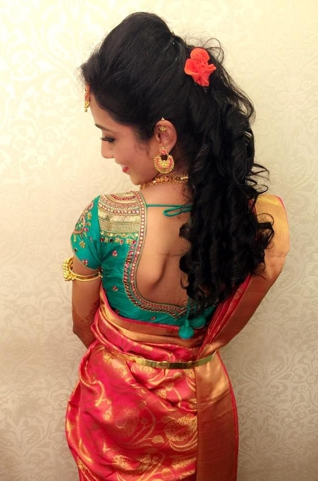 Best Hairstyles For Traditional Engagement Saree (View 6 of 15)