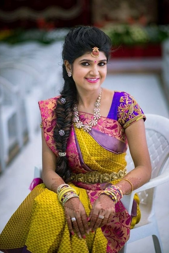 Best Hairstyles For Traditional Wedding Pattu Sarees In Traditional Wedding Hairstyles (View 8 of 15)