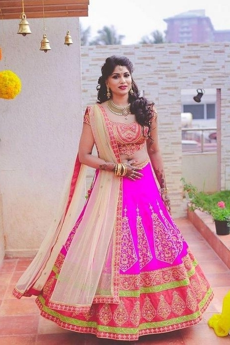 Best Hairstyles To Try With Traditional Lehenga Choli (View 2 of 15)