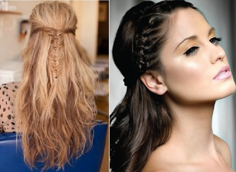 Best Half Down Wedding Hairstyles Picture | Medium Hair Styles Ideas Intended For Wedding Hairstyles For Down Straight Hair (View 3 of 15)