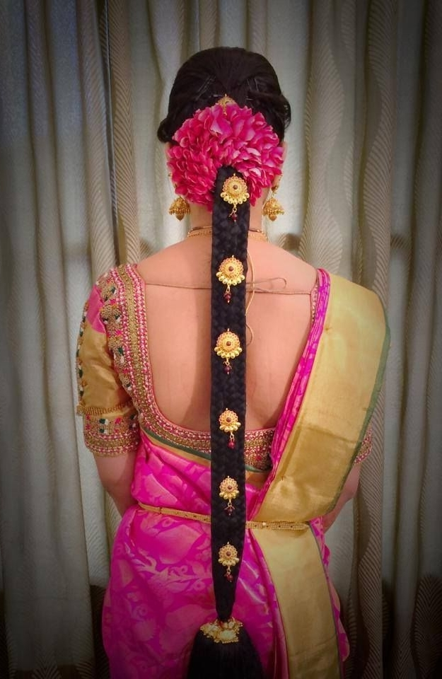 Best South Indian Wedding Hairstyles Contemporary – Styles & Ideas With Regard To Hindu Wedding Hairstyles For Long Hair (View 12 of 15)