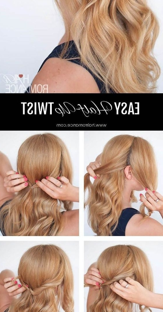Best Wedding Hair Tutorials Ideas On Pinterest Bridal Hairstyles Diy With Regard To Wedding Hairstyles At Home (View 14 of 15)