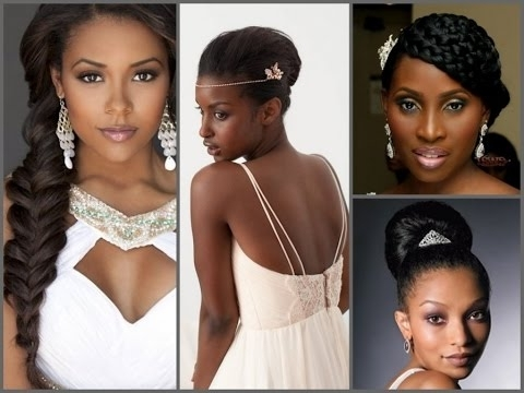Best Wedding Hairstyles For Black Women – Youtube Pertaining To Wedding Hairstyles For Black Woman (View 9 of 15)