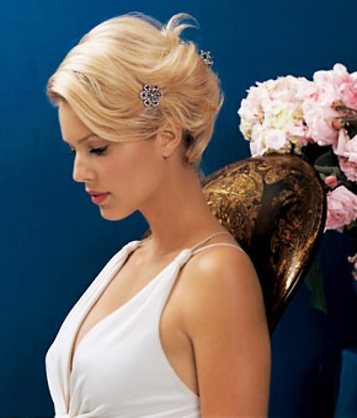 Best Wedding Hairstyles For Short Hair 2015 €  2016 Wedding Inside Wedding Hairstyles For Very Short Hair (View 6 of 15)