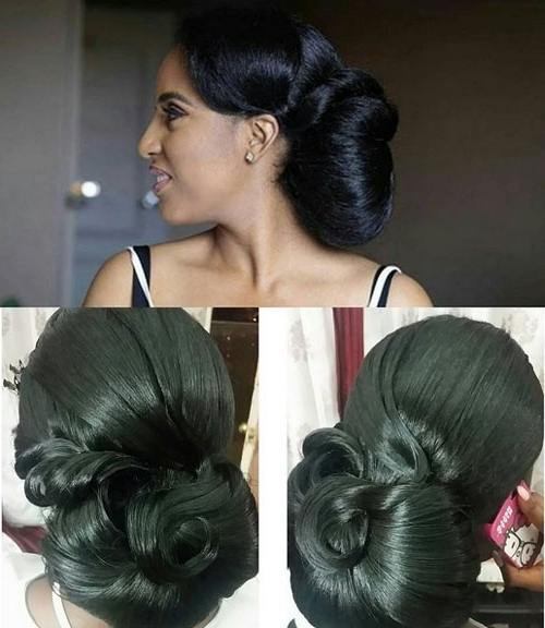 Black Bridal Hairstyles For Long Hair 13 | African American Inside Wedding Hairstyles For Long Black Hair (View 7 of 15)