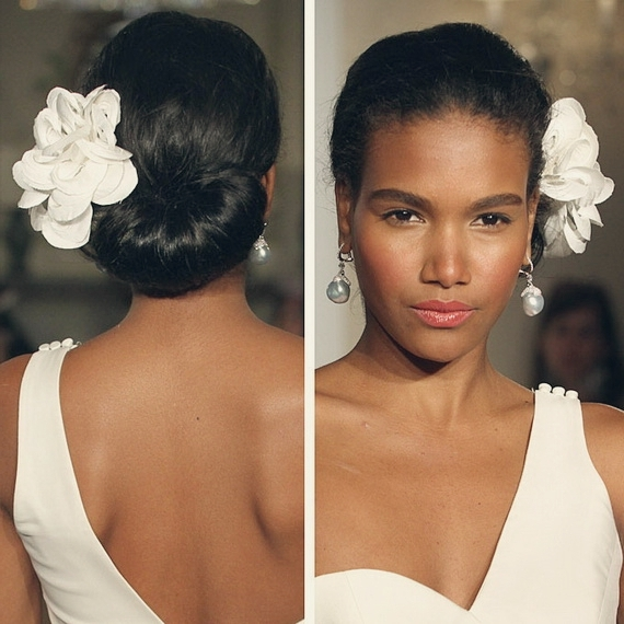 Black Bridal Hairstyles Updo Wedding Hairstyle For Black Women With For Updos Black Wedding Hairstyles (View 12 of 15)