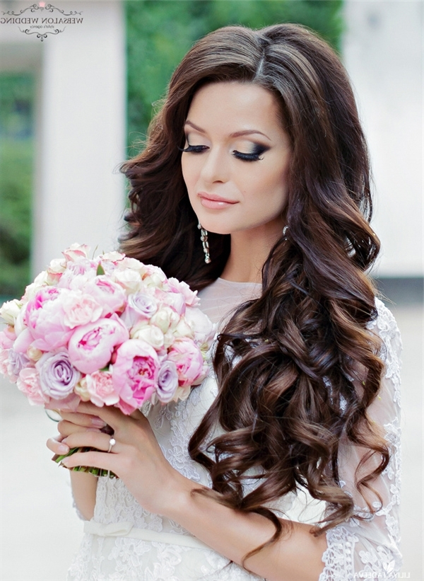 Black Long Wedding Hairstyle | Deer Pearl Flowers Inside Wedding Hairstyles For Long Black Hair (View 8 of 15)