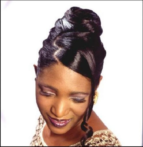 Black Wedding Hairstyles Updo For African American Women – Bride Of Inside Jamaican Wedding Hairstyles (View 7 of 15)