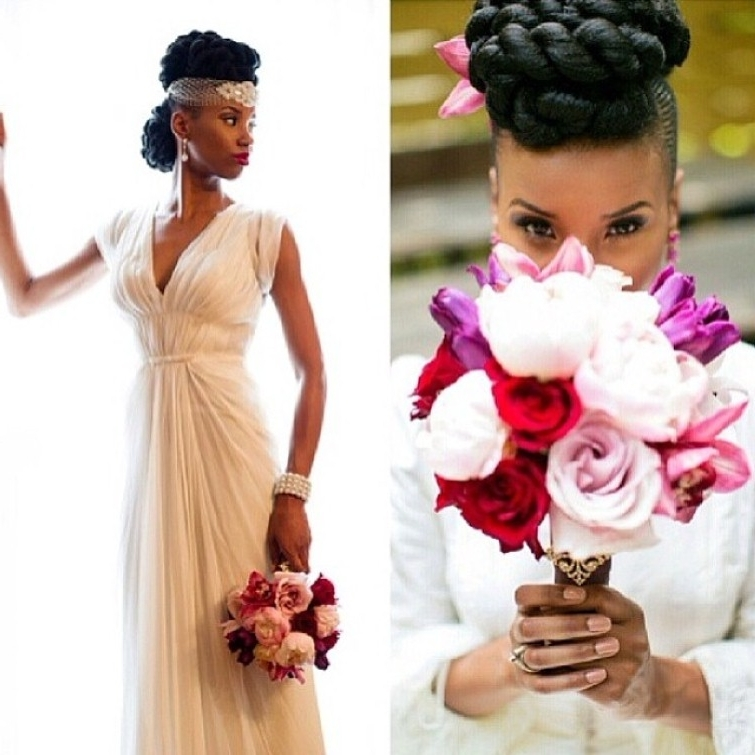 Black Wedding Hairstyles With Natural Hair Hollywood Ficial Black With Regard To Wedding Hairstyles For Natural African American Hair (View 7 of 15)