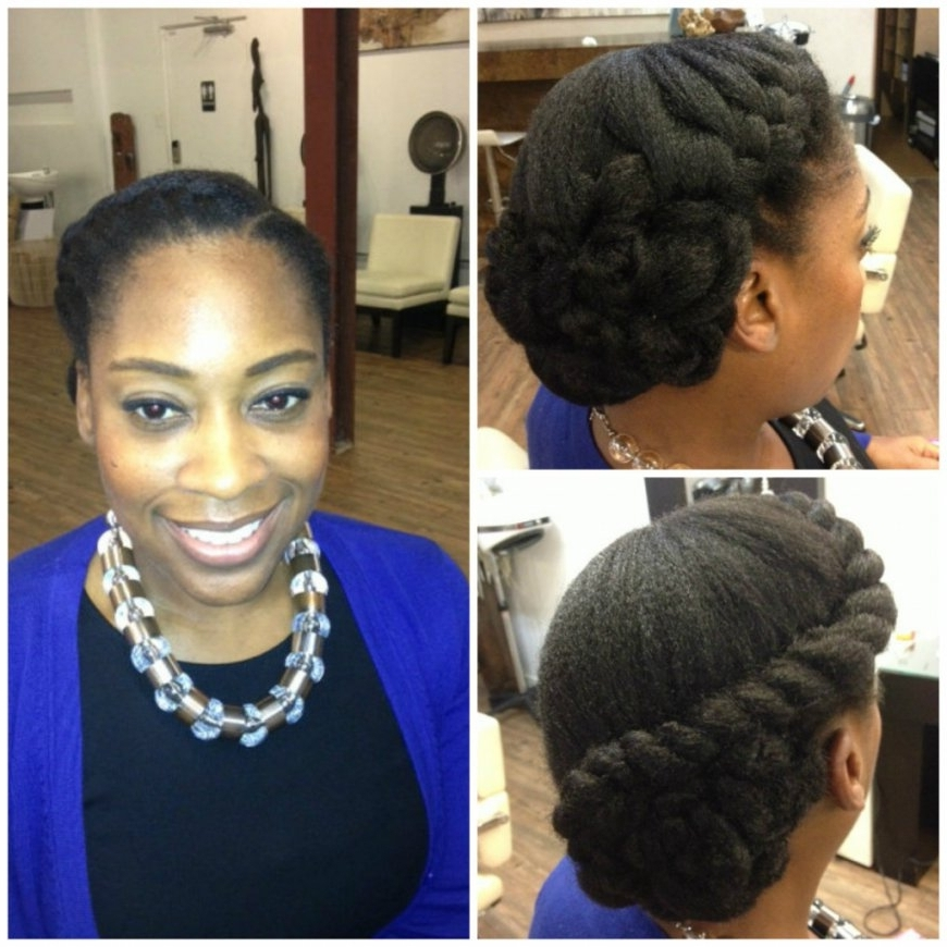 Black Women Hairstyle With Natural Hair Wedding Hairstyles For With Inside Wedding Hairstyles For Natural Black Hair (View 3 of 15)