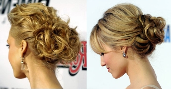 Blonde Wedding Hairstyles Curly Side Bun   Elite Wedding Looks With Regard To Curly Side Bun Wedding Hairstyles (View 11 of 15)