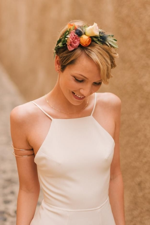 Bohemian & Modern Wedding In Santorini, Greece | Pinterest | Bridal In Bohemian Wedding Hairstyles For Short Hair (View 12 of 15)