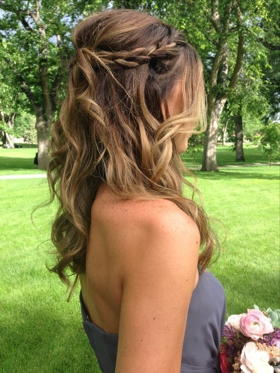 Braid Half Up Do | Diy Wedding Hairstyles For Medium Hair | Easy Inside Wedding Hairstyles For Medium Hair For Bridesmaids (View 5 of 15)