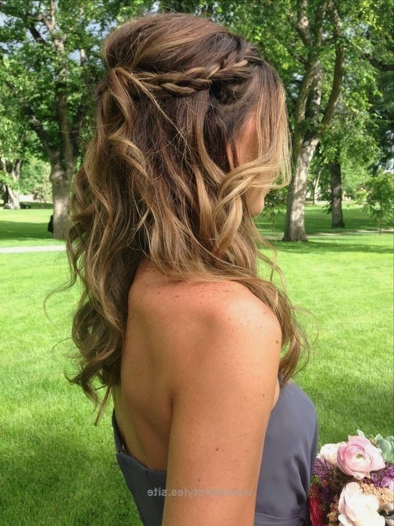 Braid Half Up Do | Diy Wedding Hairstyles For Medium Hair | Easy With Easy Bridesmaid Hairstyles For Medium Length Hair (View 8 of 15)