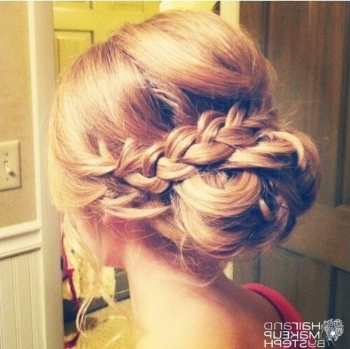 Braid Updo For Bridesmaid Hairstyles Inside Wedding Updos For Long Hair Bridesmaids (View 12 of 15)