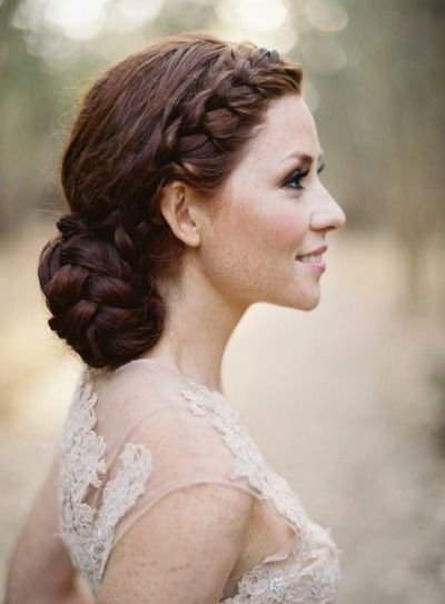 Braided Bridal Bun Hairstyle For Wedding | Deer Pearl Flowers Inside Wedding Bun Hairstyles (View 7 of 15)