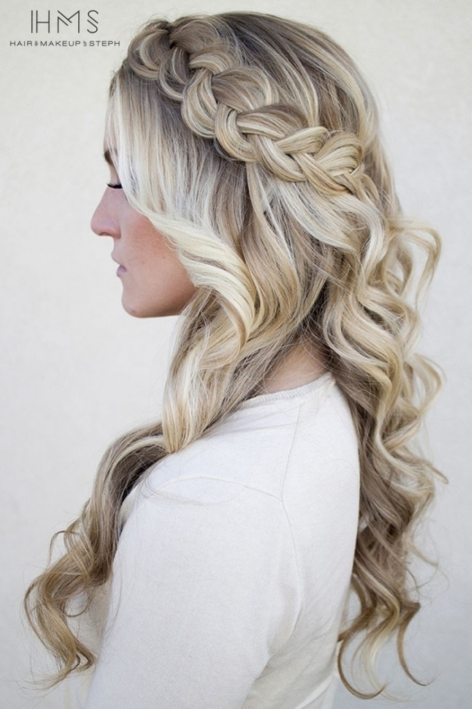 Braided Curly Wedding Hairstyle Wedding Hairstyles Plaits Black Hair Regarding Plaits And Curls Wedding Hairstyles (View 4 of 15)