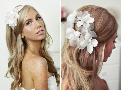 Braided Hairstyles For Long Hair Wedding | Medium Hair Styles Ideas In Long Wedding Hairstyles With Flowers In Hair (View 7 of 15)