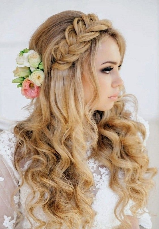 Braided Hairstyles For Wedding Party 2015 Long Curly Hairstyles With For Hairstyles For Long Hair For A Wedding Party (View 5 of 15)