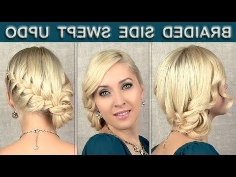 Braided Updo Tutorial: Prom Wedding Hairstyle For Medium Long Hair With Regard To Wedding Hairstyles For Medium Long Length Hair (View 11 of 15)