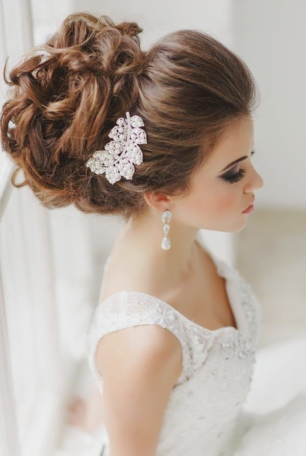 Braided Updos Wedding Hairstyle Ideas | Deer Pearl Flowers Within High Updos Wedding Hairstyles (View 6 of 15)