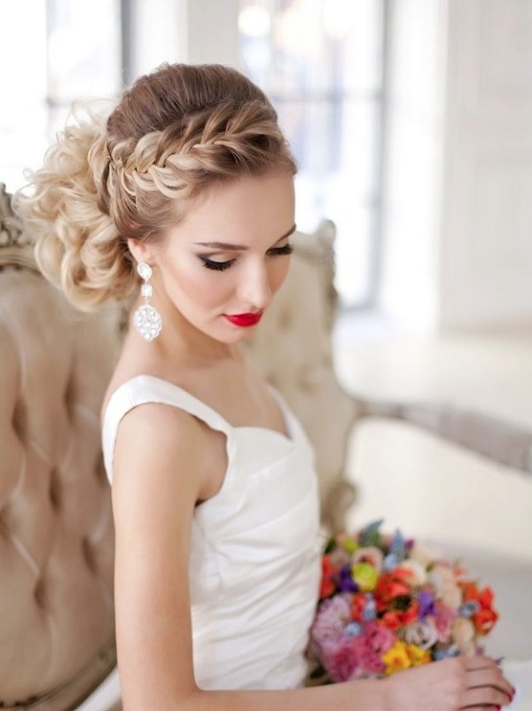 Braided Wedding Hairstyle For Long Hair | Deer Pearl Flowers Inside Wedding Updos For Long Hair With Braids (View 9 of 15)