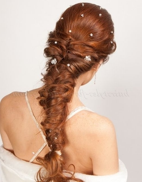 Braided Wedding Hairstyles – Fishtail Braid Wedding Hairstyle Intended For Fishtail Braid Wedding Hairstyles (View 7 of 15)