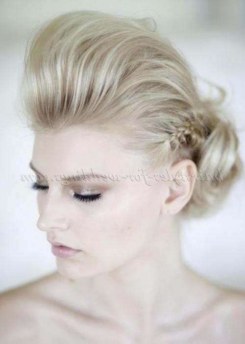 Braided Wedding Hairstyles – Quiff Wedding Hairstyle With Side Braid Within Quiff Wedding Hairstyles (View 6 of 15)