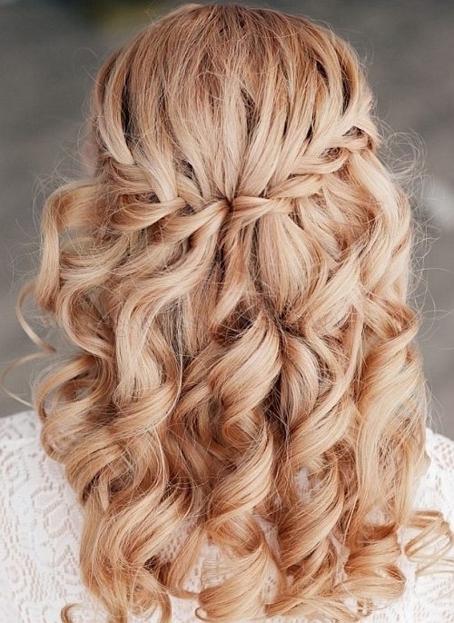 Braided Wedding Hairstyles – Waterfall Braid Wedding Hairstyle With Braided Wedding Hairstyles (View 12 of 15)