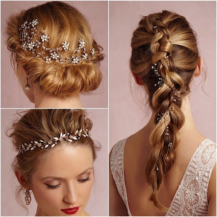 Bridal Hair Accessories From Bhldn – Modwedding Intended For Wedding Hairstyles With Hair Jewelry (View 8 of 15)