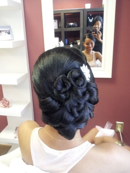 Bridal Hair Style, Vintage Updo, Clean Updo, African American Bridal In Updos African American Wedding Hairstyles (View 15 of 15)