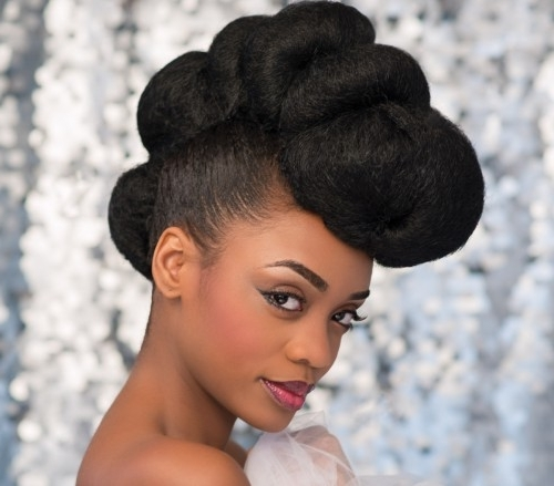 Bridal Hair Styles For Black Brides | Black Beauty And Hair Intended For Wedding Hairstyles For Afro Hair (View 6 of 15)