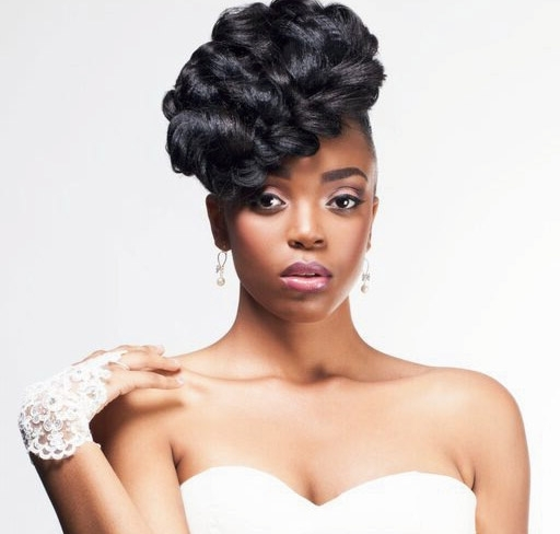 Bridal Hair Styles For Black Brides | Black Beauty And Hair With Wedding Hairstyles For Natural Hair (View 13 of 15)