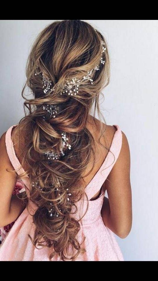 Bridal Hair Vine Wedding Headband Long Hair Vine Wedding Hair In Wedding Hairstyles For Extra Long Hair (View 10 of 15)