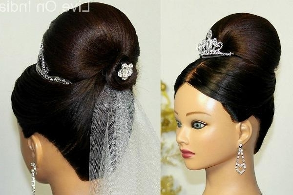 Bridal Hairstyle Christian: Best Indian Wedding Hairstyles For Inside Christian Bridal Hairstyles For Short Hair (View 14 of 15)