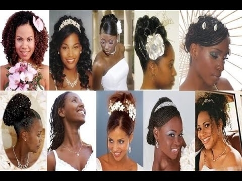 Bridal Hairstyle For Black Women Short, Medium, Long Hair 2015 – Youtube With Regard To Wedding Hairstyles For Black Bridesmaids (View 6 of 15)
