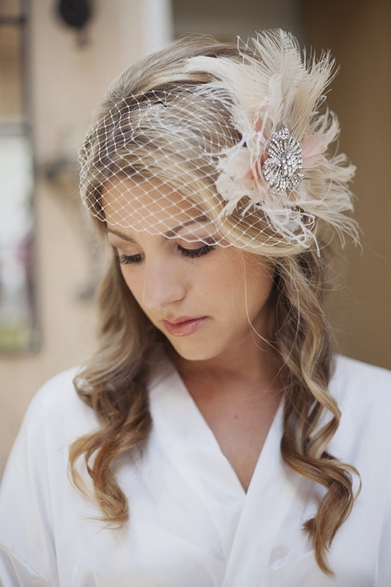 Bridal Hairstyle For Short Hair & Curly Hair – Inn 2 Weddings Pertaining To Wedding Guest Hairstyles For Medium Length Hair With Fascinator (View 4 of 15)