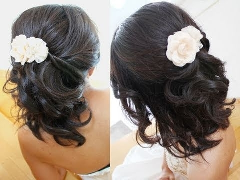 Bridal Hairstyle For Short Medium Long Hair Tutorial Weddings Prom With Wedding Hairstyles For Medium Short Hair (View 8 of 15)