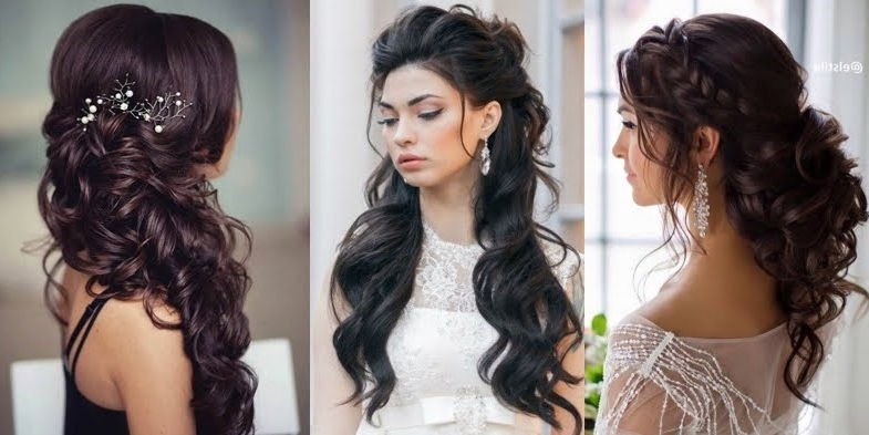 Bridal Hairstyle Inspirations For Dark Hair! Regarding Wedding Hairstyles For Dark Hair (View 7 of 15)