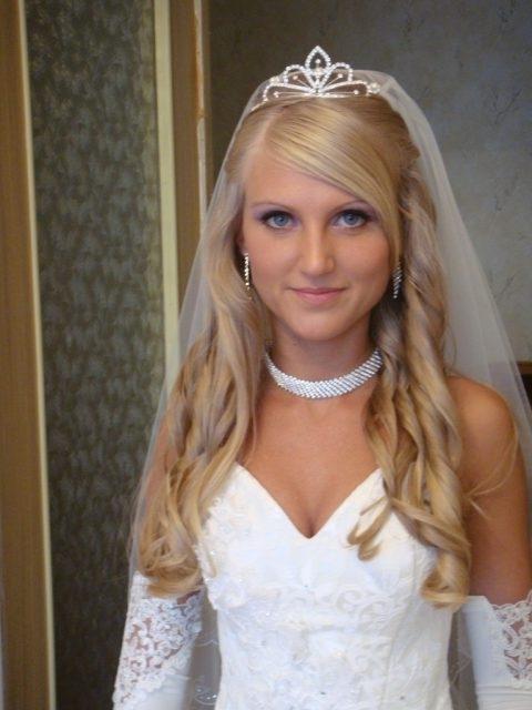 Bridal Hairstyle With Veil And Tiara Photos Wedding Hairstyles For With Wedding Hairstyles For Long Hair Down With Veil And Tiara (View 12 of 15)